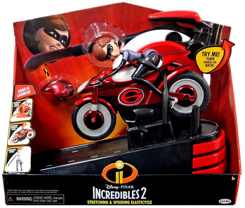 Disney / Pixar Incredibles 2 Stretching & Speeding Elasticycle 11-Inch Vehicle