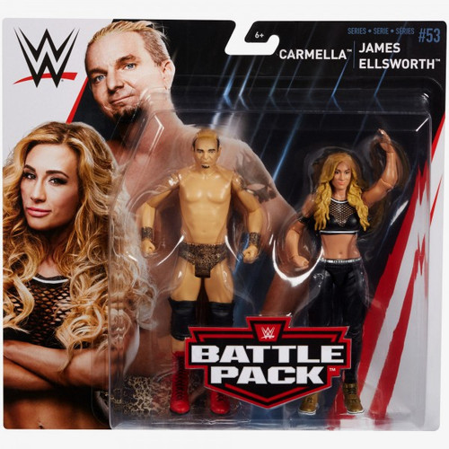 WWE Wrestling Battle Pack Series 53 Carmella & James Ellsworth Action Figure 2-Pack