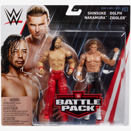 WWE Wrestling Battle Pack Series 53 Shinsuke Nakamura & Dolph Ziggler Action Figure 2-Pack