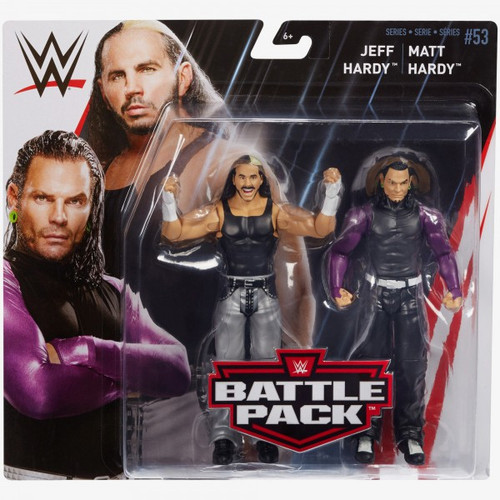 WWE Wrestling Battle Pack Series 53 Matt & Jeff Hardy Action Figure 2-Pack [Hardy Boyz]