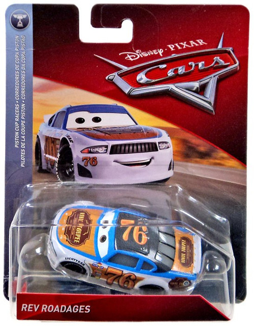 Disney / Pixar Cars Cars 3 Piston Cup Racers Rev Roadages Diecast Car [Vinyl Toupee]
