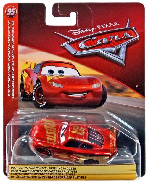 Disney / Pixar Cars Cars 3 Rust-Eze Racing Center Lightning McQueen Diecast Car [No Card]