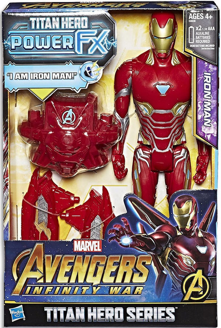 Marvel Avengers Infinity War Titan Hero Series Power FX Iron Man Action Figure