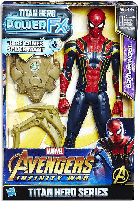 Marvel Avengers Infinity War Titan Hero Series Power FX Iron Spider Action Figure