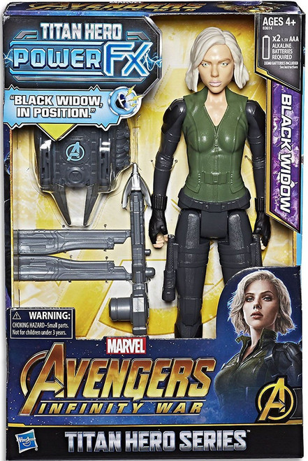 Marvel Avengers Infinity War Titan Hero Series Power FX Black Widow Action Figure