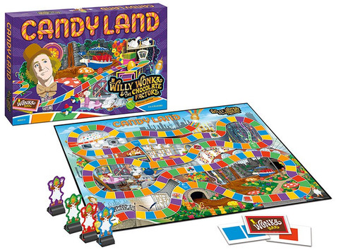 Candy Land Willy Wonka Board Game