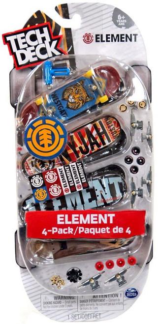 Tech Deck Element 96mm Mini Skateboard 4-Pack