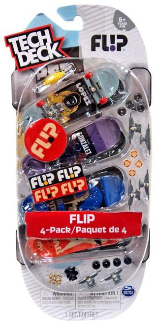 Tech Deck Flip 96mm Mini Skateboard 4-Pack