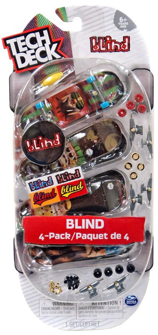 Tech Deck Blind 96mm Mini Skateboard 4-Pack