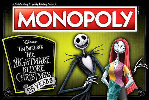Nightmare Before Christmas Monopoly NBX 25th Anniversary Board Game