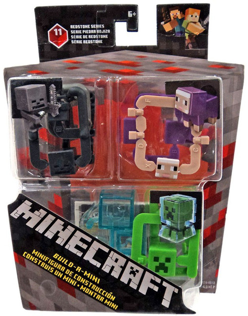 Minecraft Redstone Series 11 Wether Knight, Purple Sheep & Electrified Creeper Mini Figure 3-Pack
