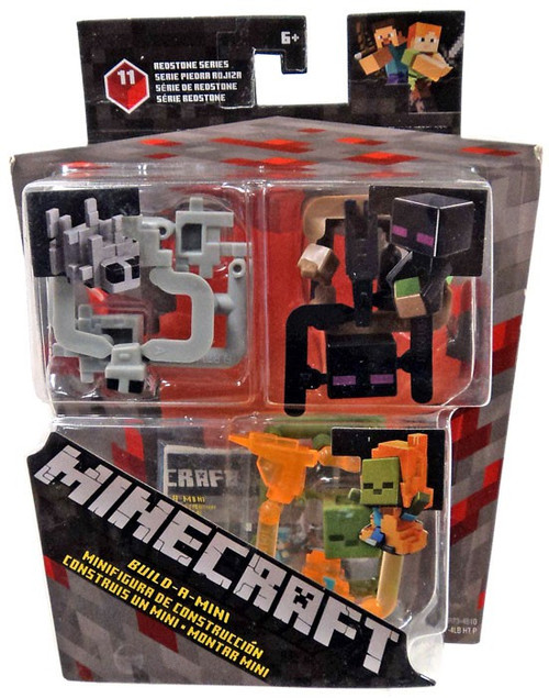 Minecraft Redstone Series 11 Silver Fish, Enderman & Zombie on Fire Mini Figure 3-Pack