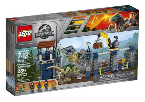 LEGO Jurassic World Dilophosaurus Outpost Attack Exclusive Set #75931