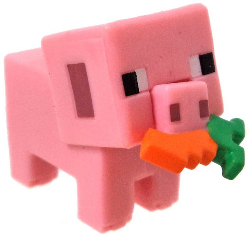 Minecraft Wood Series 10 Pig with Carrot Minifigure [Loose]