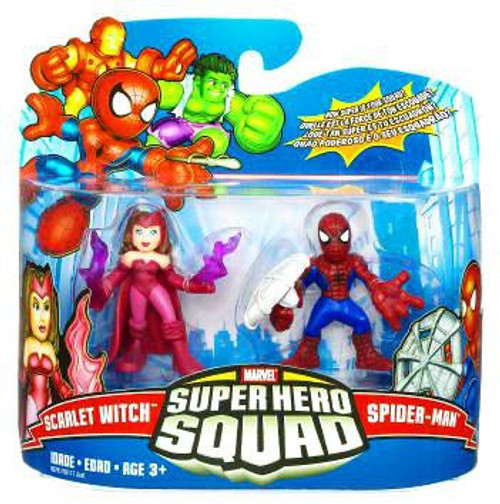 Marvel Super Hero Squad Series 17 Spider-Man & Scarlet Witch 3-Inch Mini Figure 2-Pack [Damaged Package]