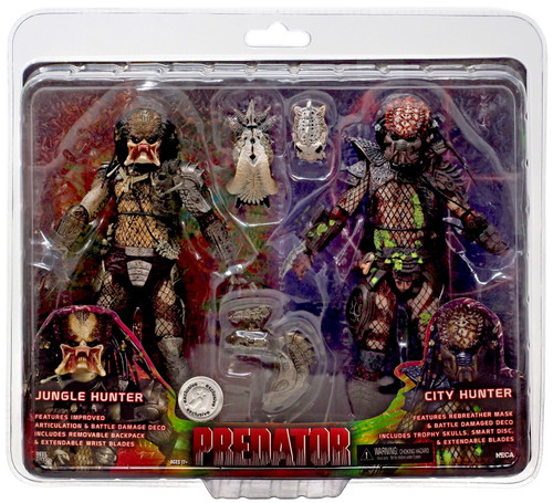 NECA Predator / Predator 2 Jungle Hunter & City Hunter Exclusive Action Figure