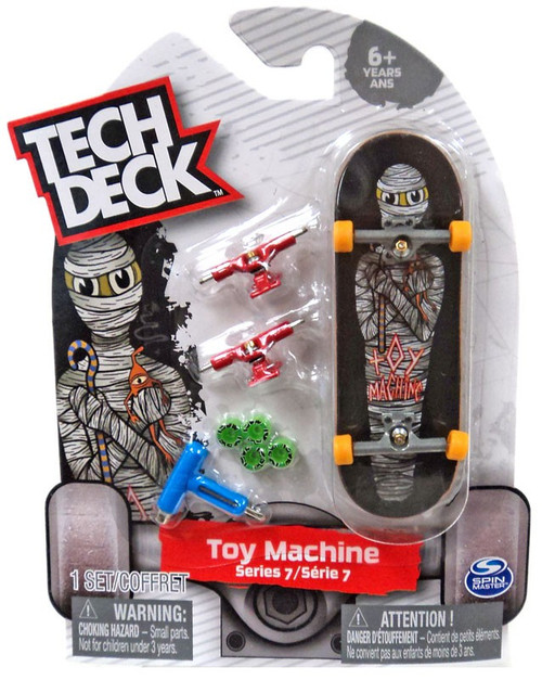 Tech Deck Series 7 Toy Machine 96mm Mini Skateboard