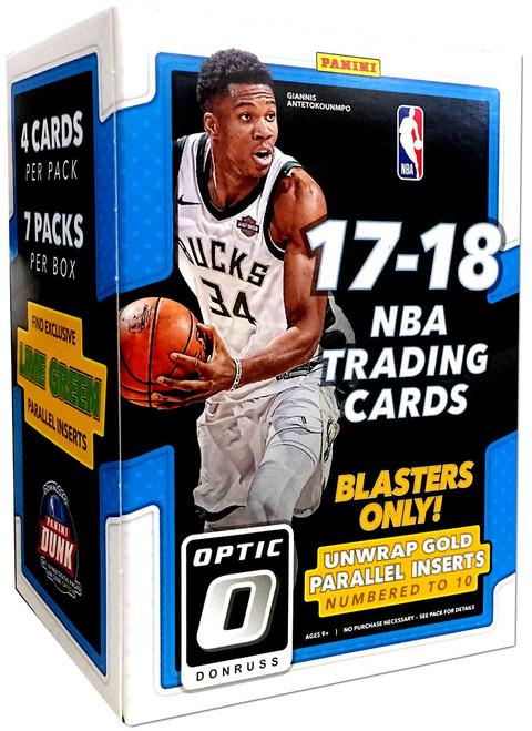 NBA Panini 2017-18 Donruss Optic Basketball Trading Card BLASTER Box [7 Packs]