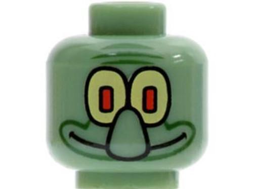 Squidward Minifigure Head [Loose]