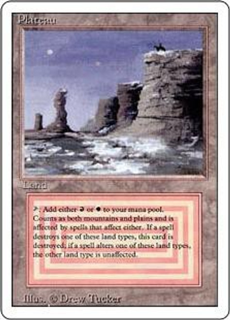 MtG Revised Rare Plateau [Heavily Played]