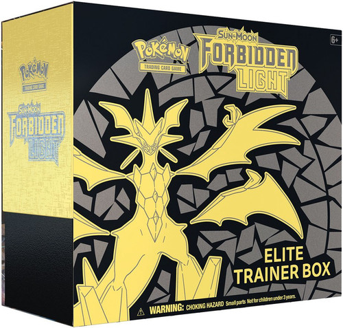 Pokemon Trading Card Game Sun & Moon Forbidden Light Ultra Necrozma Elite Trainer Box [8 Booster Packs, 65 Card Sleeves, 45 Energy Cards & More]