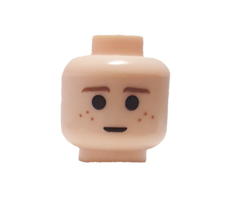 Brown Eyebrows and Freckles, Large Pupils Minifigure Head [Light Flesh Loose]