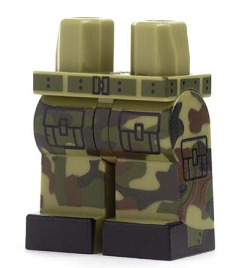 LEGO Green Camouflage Loose Legs [Loose]