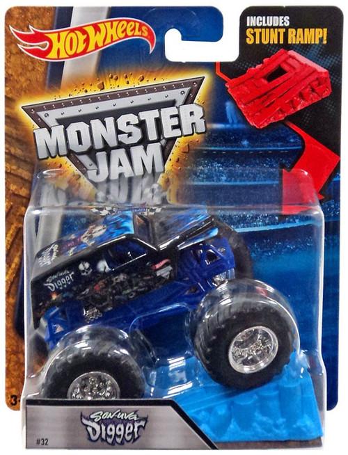 Hot Wheels Monster Jam Son Uva Digger Die-Cast Car [Stunt Ramp]