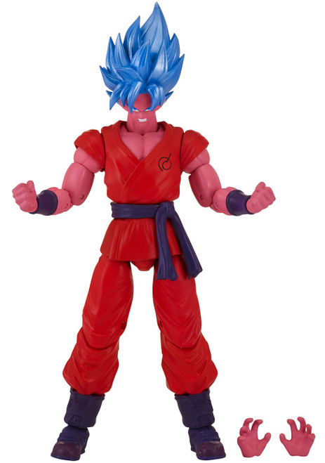 Dragon Ball Super Dragon Stars Series 6 Super Saiyan Blue Kaioken Goku Action Figure [Kale Build-a-Figure]