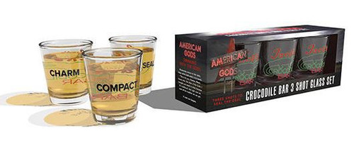 American Gods Jack's Crocodile Bar Shot Glass Set