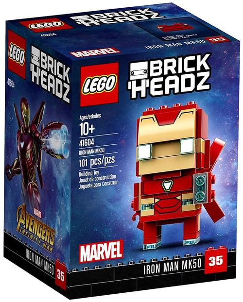 LEGO Marvel Avengers Infinity War Brick Headz Iron Man MK50 Mini Set