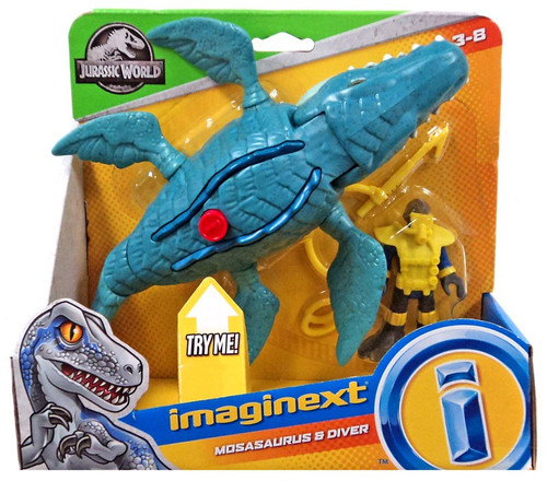 Fisher Price Jurassic World Imaginext Mosasaurus & Diver Figure Set