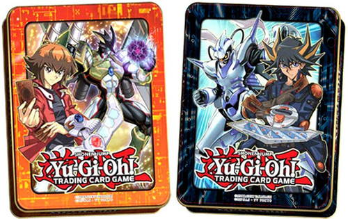 YuGiOh Trading Card Game 2018 Jaden Yuki & Yusei Fudo Set of Both Mega Tins