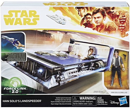 Solo A Star Wars Story Force Link 2.0 Landspeeder & Han Solo (Corellia) Vehicle & Action Figure