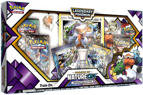 Trading Card Game Legendary Pokemon Forces of Nature GX Premium Collection [6 Booster Packs, 2 Promo Cards, Oversize Card, Pin & Coin!]