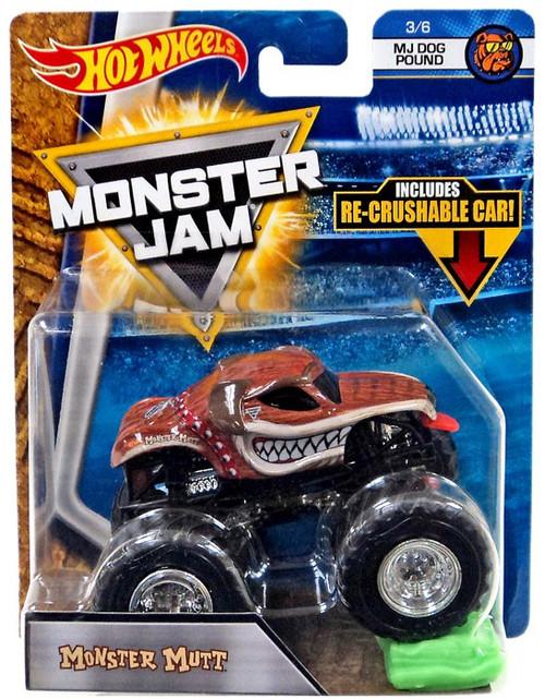 Hot Wheels Monster Jam Monster Mutt Diecast Car #3/6 [MJ Dog Pound, Re-Crushable Car]