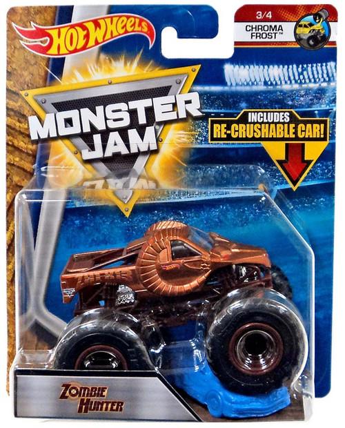 Hot Wheels Monster Jam Zombie Hunter Diecast Car #3/4 [Chroma Frost]