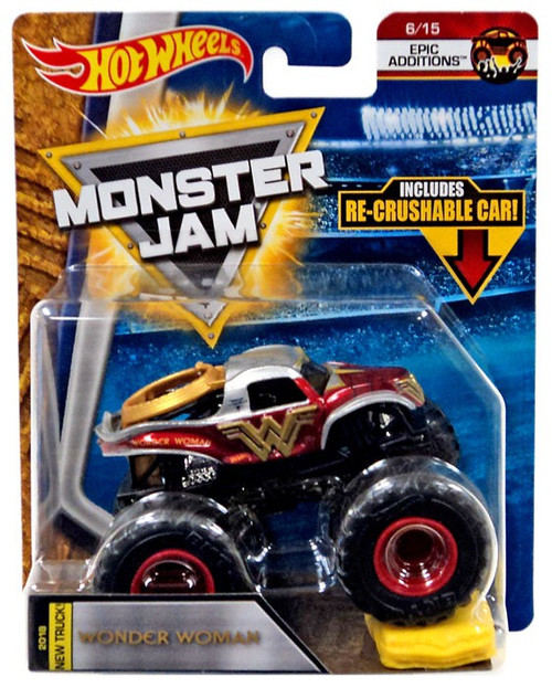 Hot Wheels Monster Jam Wonder Woman Diecast Car #6/15 [Epic Additions]