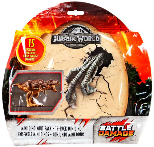 Jurassic World Matchbox Battle Damage Mini Dino Multipack Exclusive 15-Pack