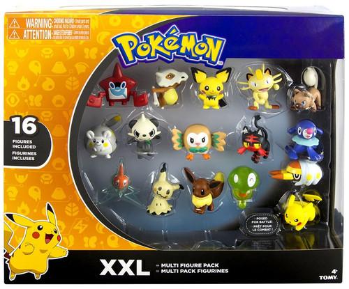 Pokemon XXL 2-Inch Mini Figure 16-Pack [with Zygarde Core, Rotom, Mimikyu, Etc.]