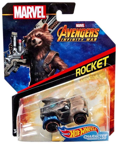 Hot Wheels Marvel Character Cars Rocket Die-Cast Car