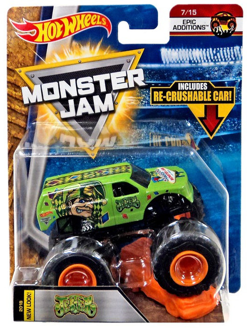 Hot Wheels Monster Jam Jester Diecast Car #7/15 [Epic Additions, Crushable Car]
