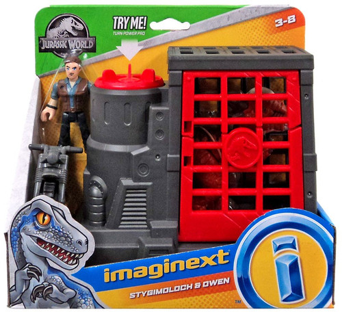 Fisher Price Jurassic World Imaginext Stygimoloch & Owen Figure Set