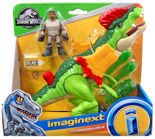 Fisher Price Jurassic World Imaginext Dilophosaurus Figure Set