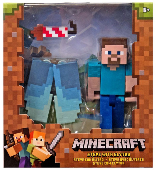 Minecraft Steve with Elytra Action Figure