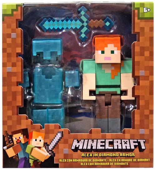 Minecraft Alex in Diamond Armor Action Figure
