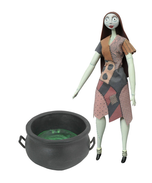 Nightmare Before Christmas Coffin Doll Sally with Cauldron 14-Inch