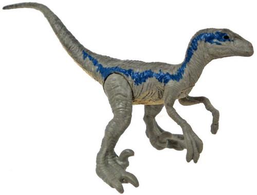 Jurassic World Matchbox Mini Dinosaur Figure Velociraptor 2-Inch Mini Figure [Blue Loose]