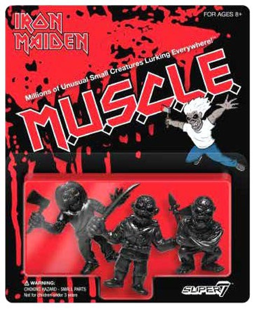 M.U.S.C.L.E. Iron Maiden 1.75-Inch 3-Pack [Black]