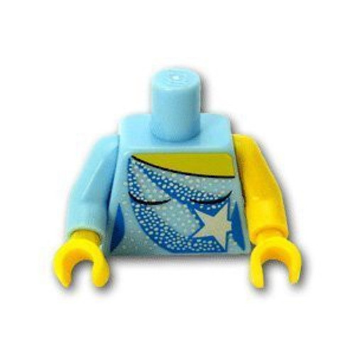LEGO Ice Skating Costume with White Sequins and Star Loose Torso [Loose]